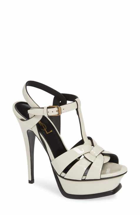 8d2ddb917b98e2 Saint Laurent Tribute Metallic Platform Sandal (Women)