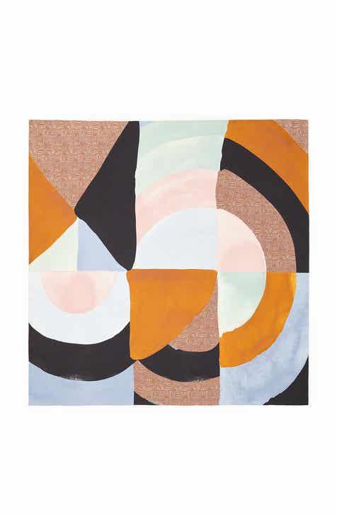 2e1b2cbab4df Lafayette 148 New York Pastiche Brushstrokes Print Silk Scarf