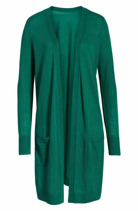 92ec081c Halogen® Long Linen Blend Cardigan (Regular & Petite)