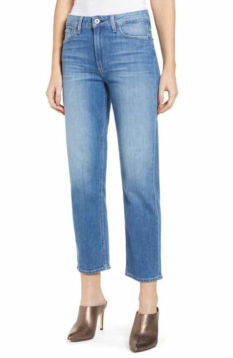 PAIGE Vintage Noella High Waist Straight Leg Jeans (Renzo Distressed) 548b4e92d
