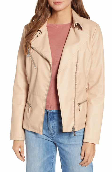 Bernardo Spring Faux Leather Moto Jacket by BERNARDO