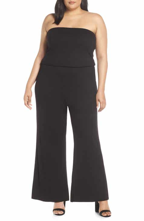 Lemon Tart Val Strapless Jumpsuit (Plus Size) by LEMON TART