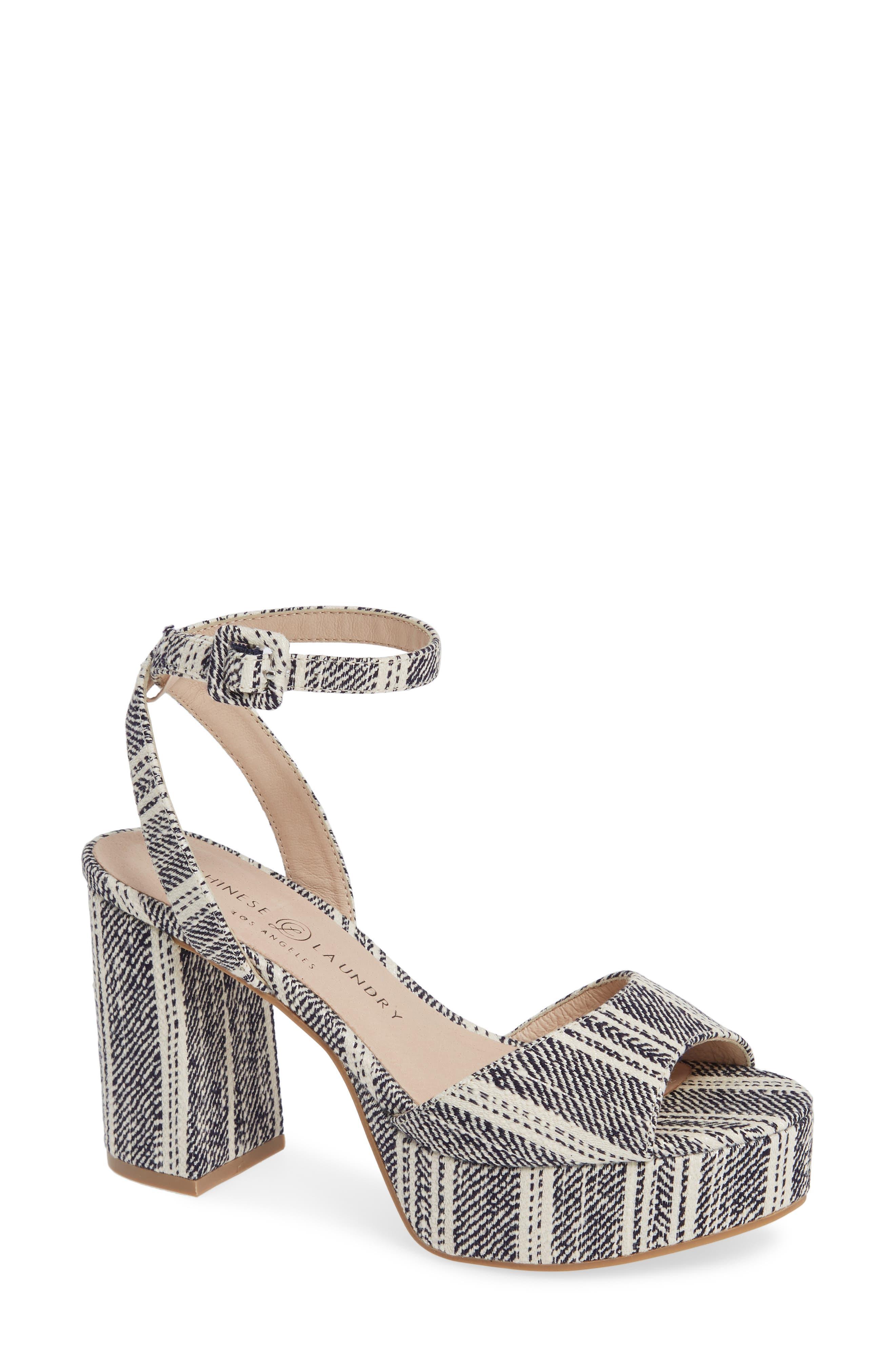 ad984b97e62e Blue Block-Heel Sandals for Women