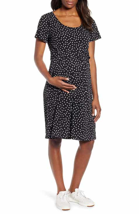 310269637a Angel Maternity Busy Mommy Empire Waist Maternity Nursing Dress