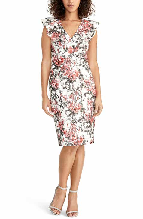 RACHEL Rachel Roy Lydia Lace Print Sheath Dress