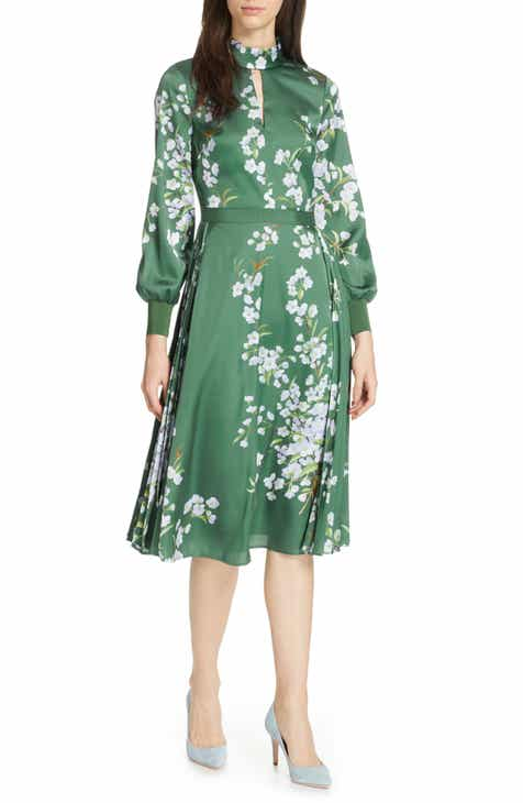 5f14b250833aad Ted Baker London Jhenni Graceful Satin A-Line Dress