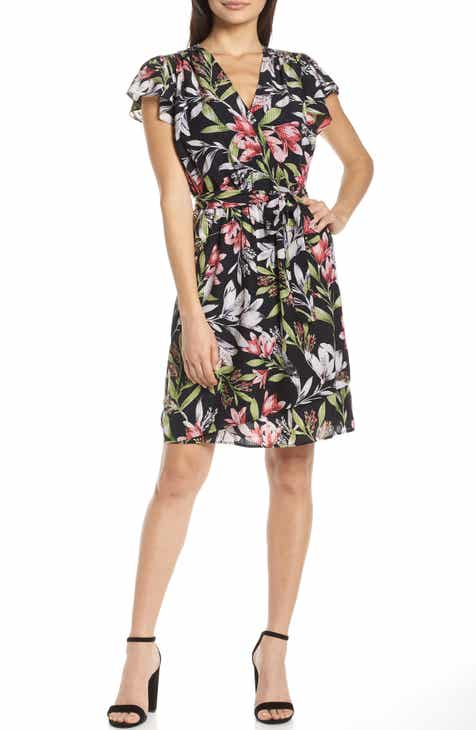 French Connection Floreta Faux Wrap Dress by FRENCH CONNECTION