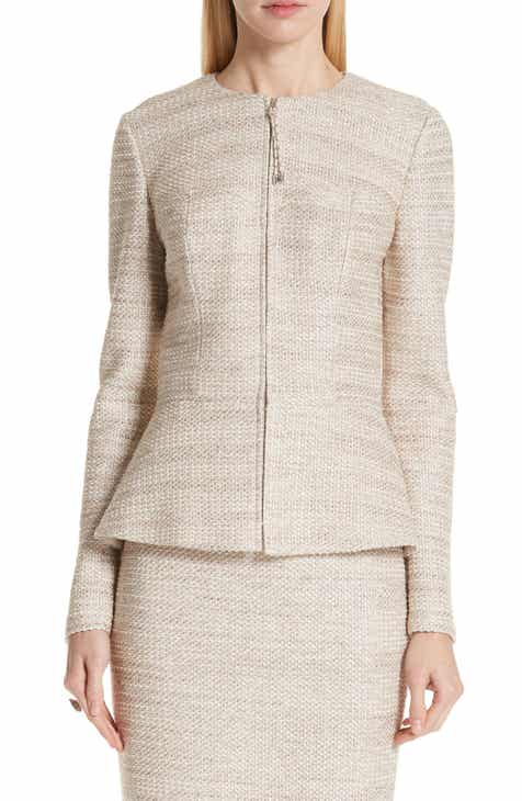 St. John Collection Antonella Knit Peplum Jacket By ST. JOHN COLLECTION by ST. JOHN COLLECTION 2019 Sale