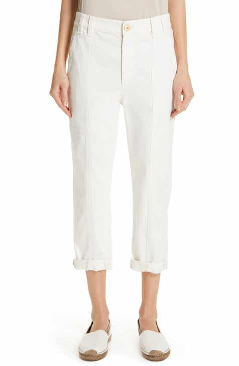 Brunello Cucinelli Stretch Cotton Crop Cargo Pants by BRUNELLO CUCINELLI