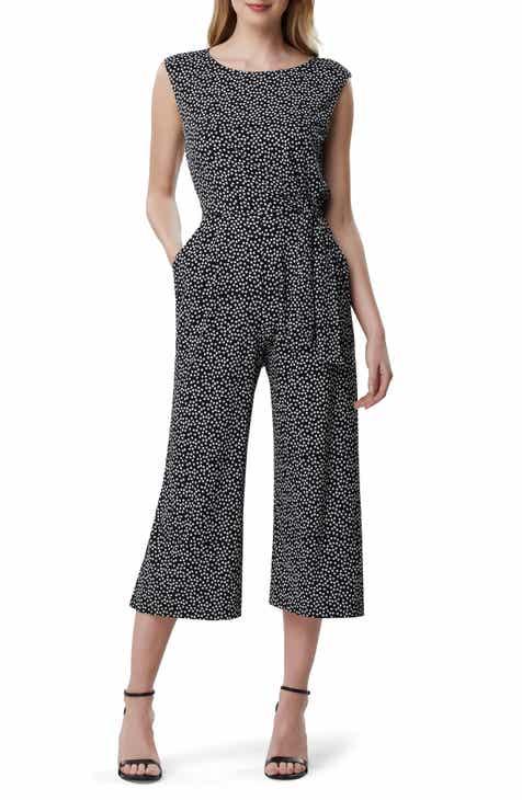 4457428ec4f Tahari Daisy Print Jersey Jumpsuit (Regular   Petite)