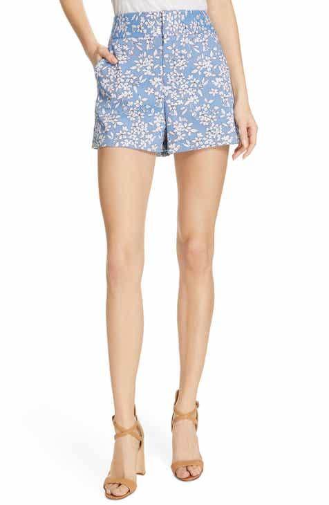 Alice + Olivia High Waist Floral Shorts by ALICE AND OLIVIA