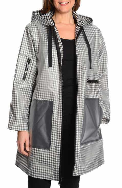 RACHEL Rachel Roy Rubberized Gingham Raincoat by RACHEL RACHEL ROY