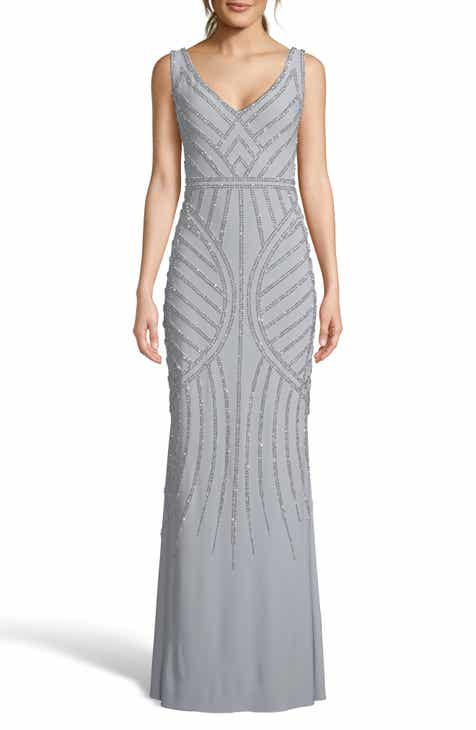 3bd577823302 Xscape Deco Beaded Evening Dress