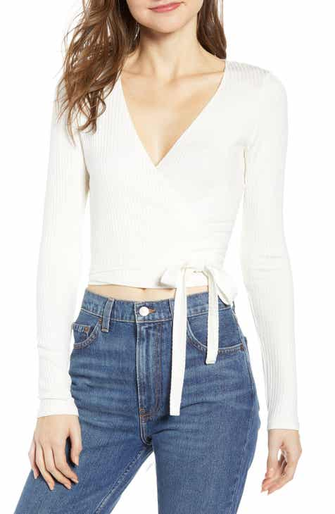 9269fb8cbdd Reformation Petalo Wrap Crop Top
