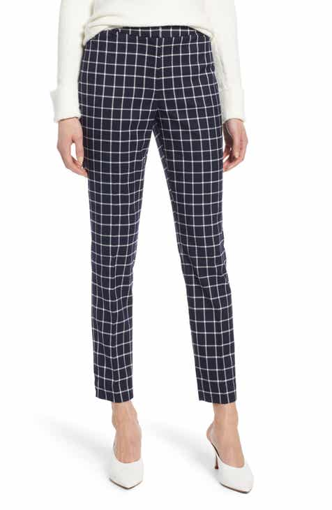 e21b6759e3a Halogen® Check Ankle Pants (Regular   Petite)
