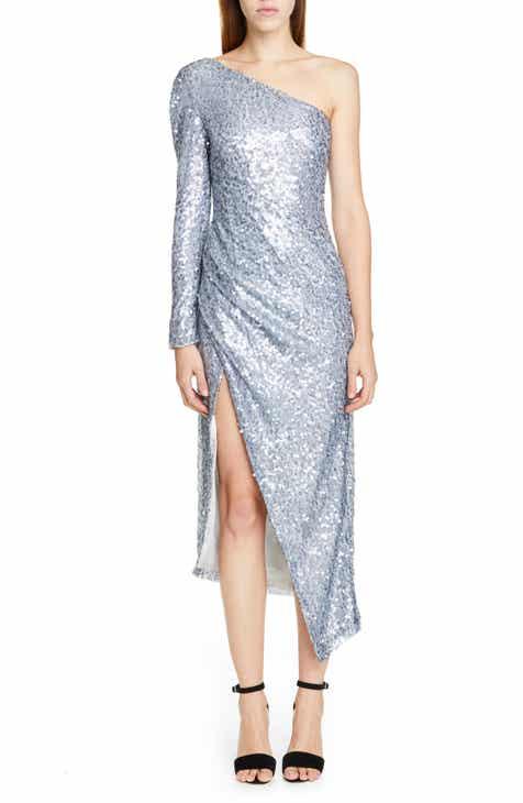 Galvan Sequin One-Shoulder Dress by GALVAN