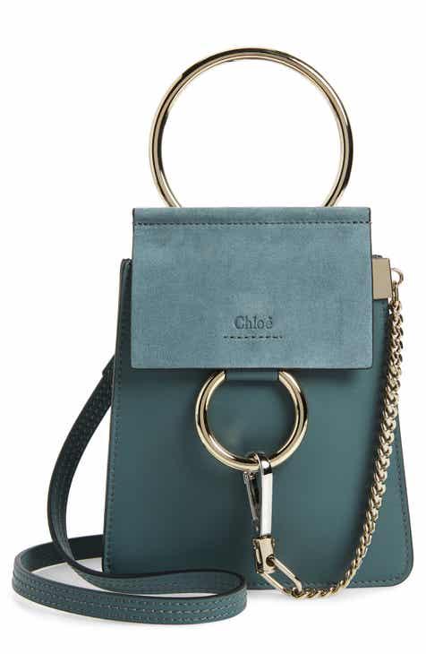 deedf74a5793 Chloé Faye Small Suede   Leather Bracelet Bag