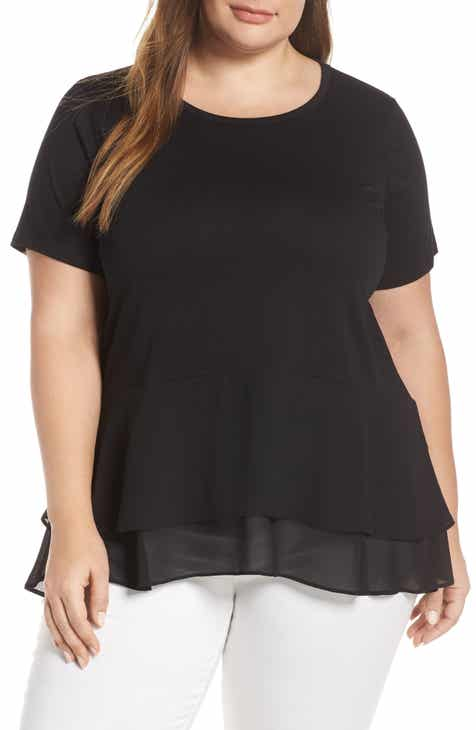 08e819f320a MICHAEL Michael Kors Double Hem Top (Plus Size)