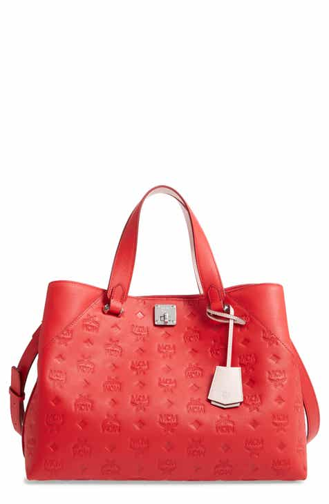 e64d529041e1 MCM Large Essential Monogram Leather Tote