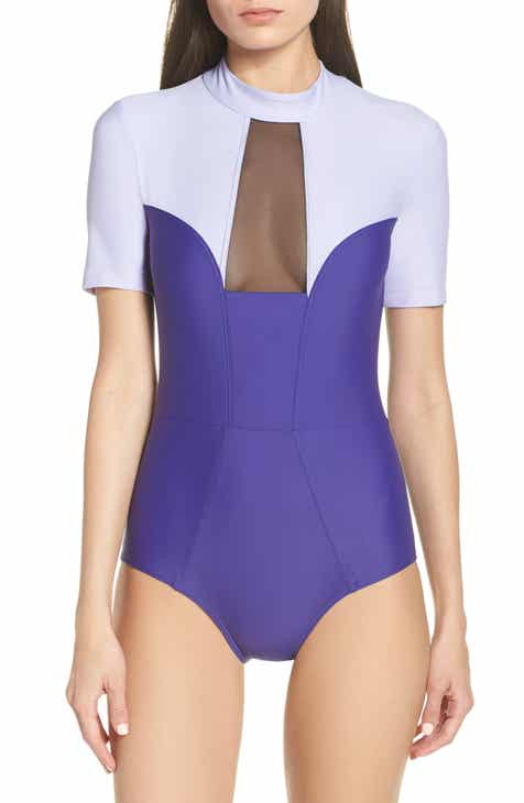Chromat Tidal Back Zip One-Piece Swimsuit by CHROMAT