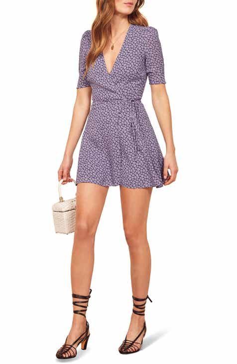 Reformation Lucky Wrap Dress by REFORMATION