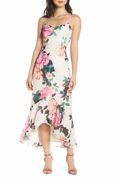 Chelsea28 Floral High/Low Dress