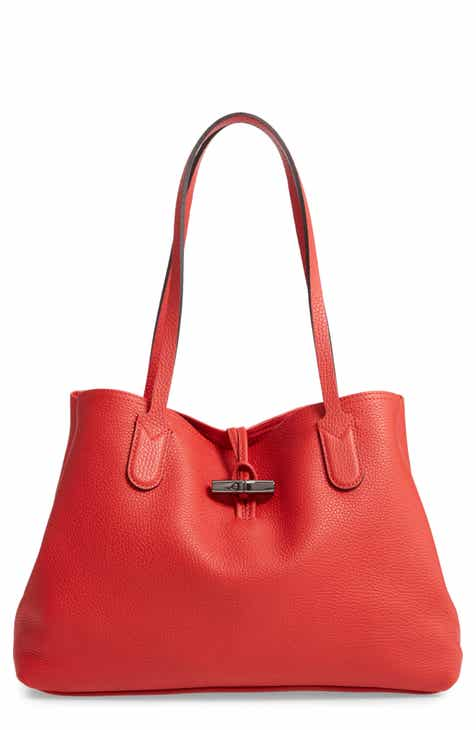 b022a668f172 Longchamp Roseau Essential Mid Leather Tote