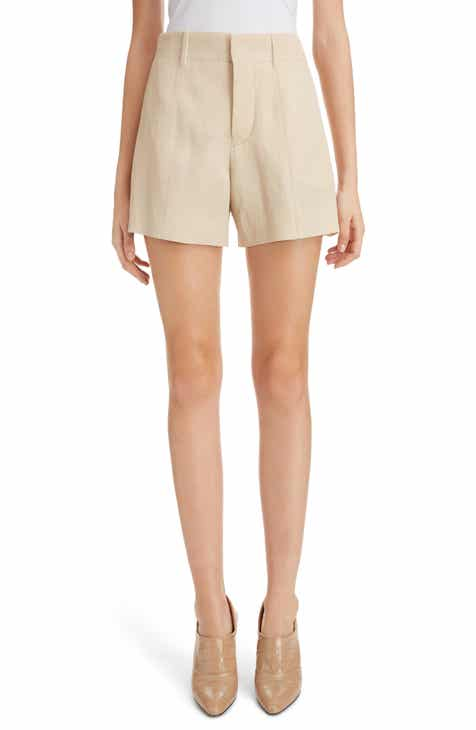 Chloé High Waist Twill Shorts by CHLOE