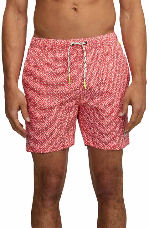 0a57ad3ff90 Psycho Bunny Volly Print Swim Trunks