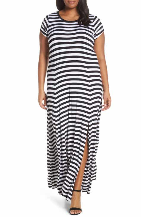 df4117fa0c MICHAEL Michael Kors Stripe Maxi Dress (Plus Size)