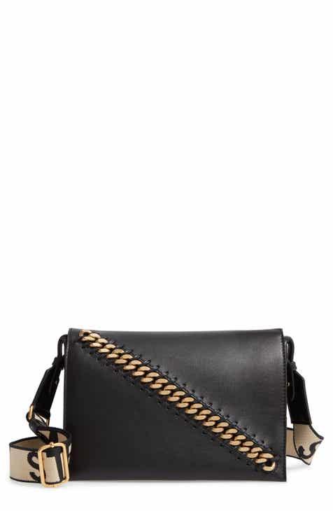 baa431f464 Stella McCartney Logo Strap Faux Leather Crossbody Bag