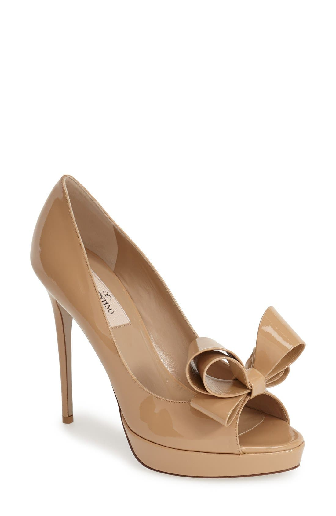 Alternate Image 1 Selected - VALENTINO GARAVANI Couture Bow Platform Pump (Women)
