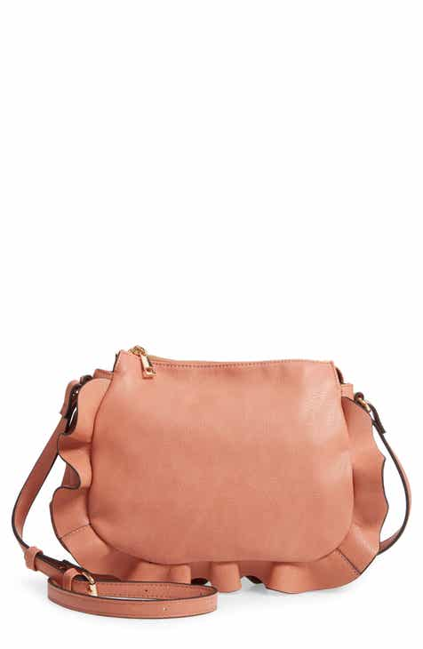 d0040db1b Sole Society Arwen Ruffle Trim Faux Leather Crossbody Bag