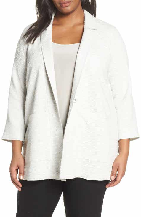 f9fb5adc513 Eileen Fisher Notch Lapel Boxy Jacket (Plus Size)