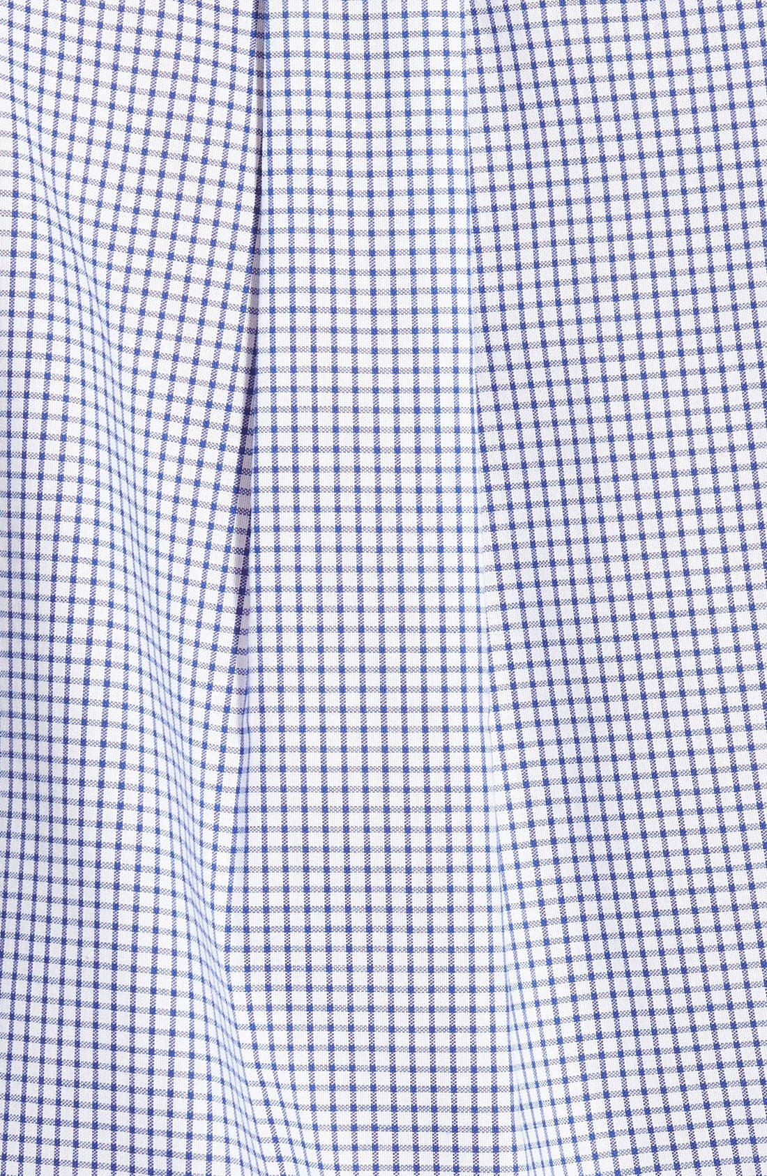 'Epic Easy Care' Classic Fit Wrinkle Free Tattersall Plaid Sport Shirt,                             Alternate thumbnail 2, color,                             French Blue