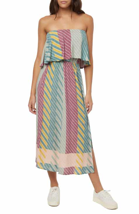 Joie Andraya Long Sleeve Stripe Silk Dress by JOIE