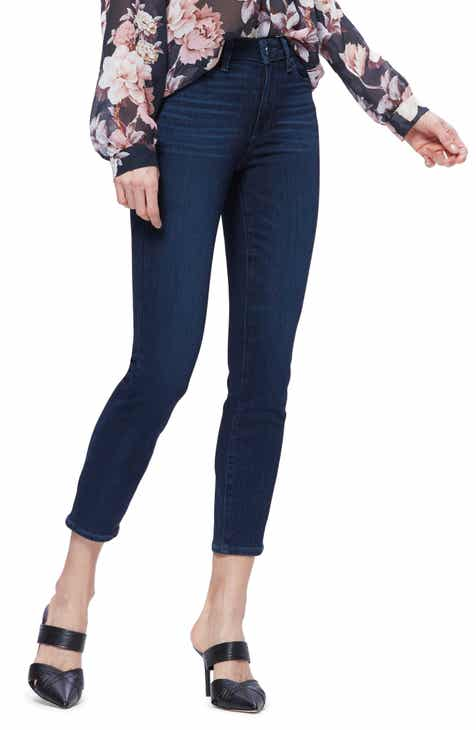 PAIGE Hidden Hills High Waist Ankle Straight Leg Jeans (Brandi) by PAIGE