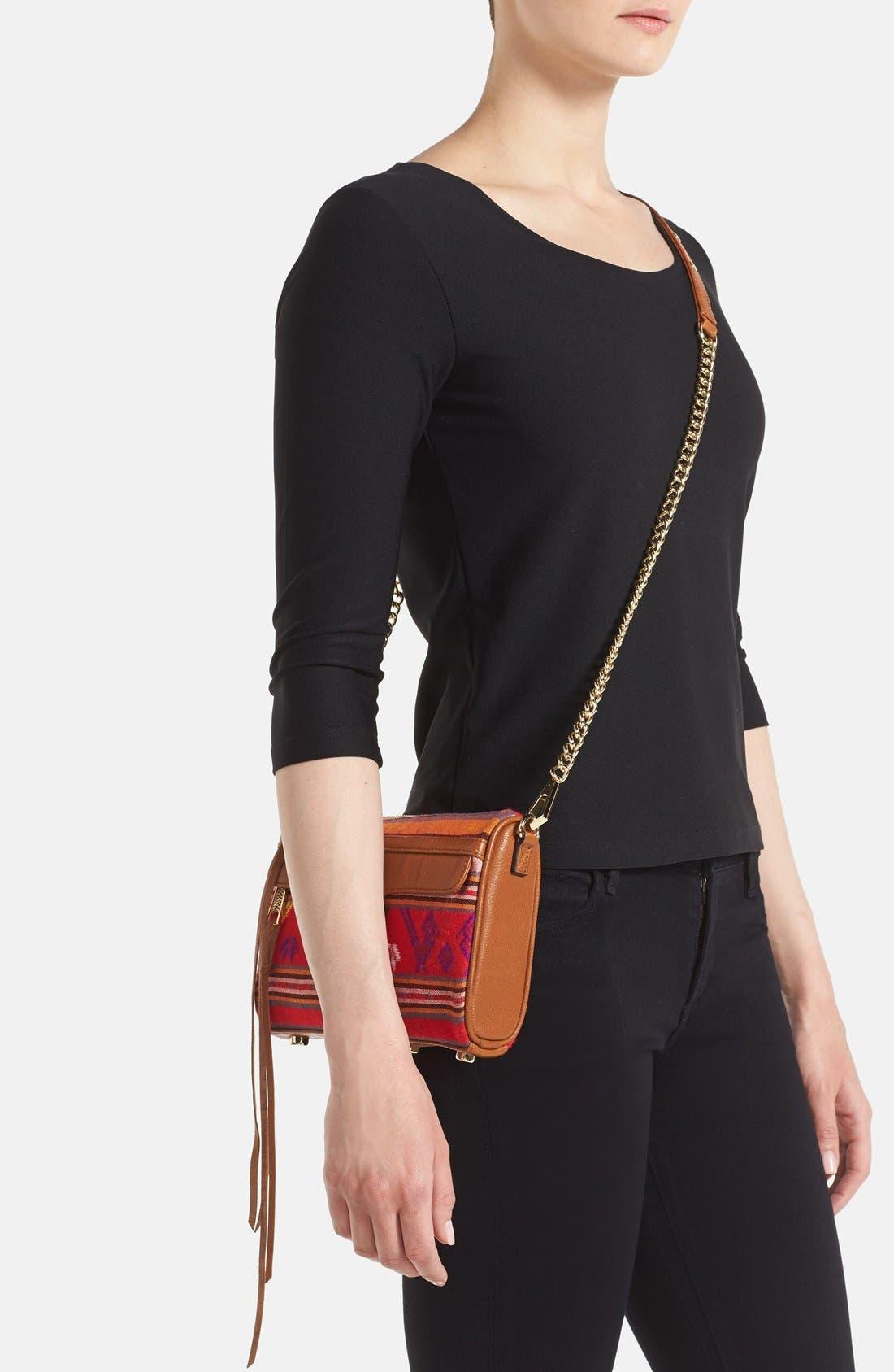 Piece & Co. and Rebecca Minkoff 'Mini MAC' Convertible Crossbody Bag,                             Alternate thumbnail 2, color,                             Orange Multi