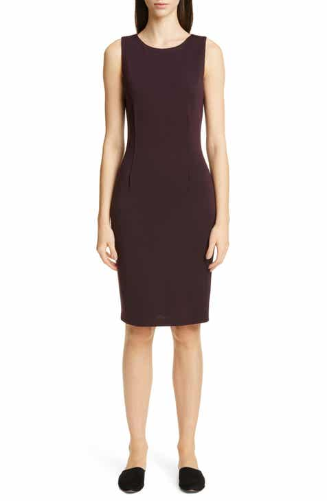Find St. John Collection Bateau Neck Milano Knit Sheath Dress Purchase