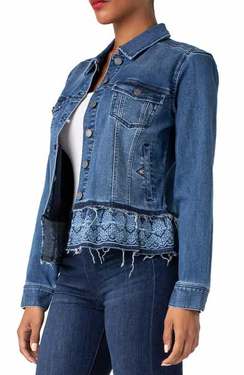 bad4d971080 Liverpool Eyelet Hem Denim Jacket