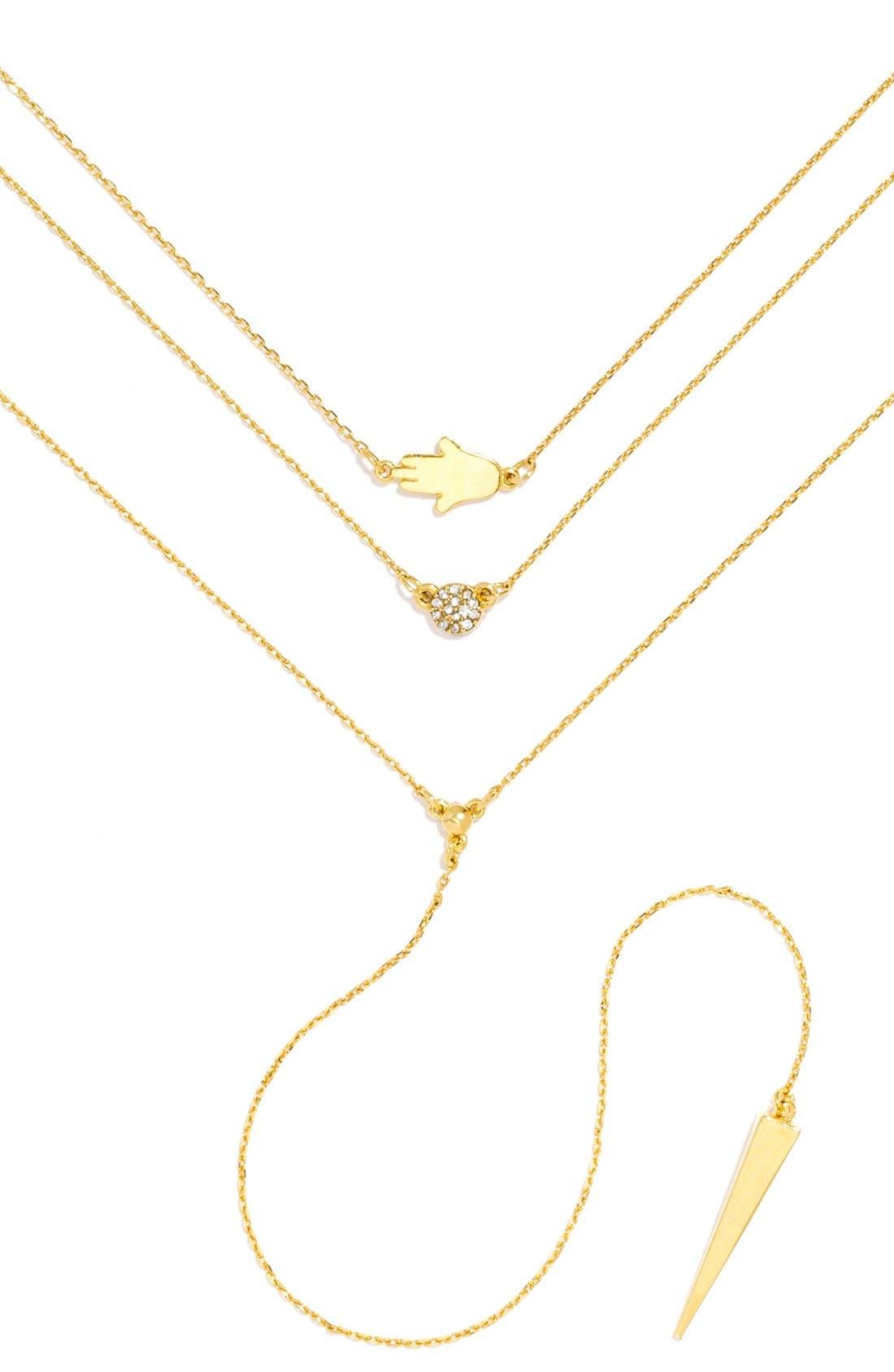'Pyramid' Layered Necklace Gift Set,                             Main thumbnail 1, color,                             Gold