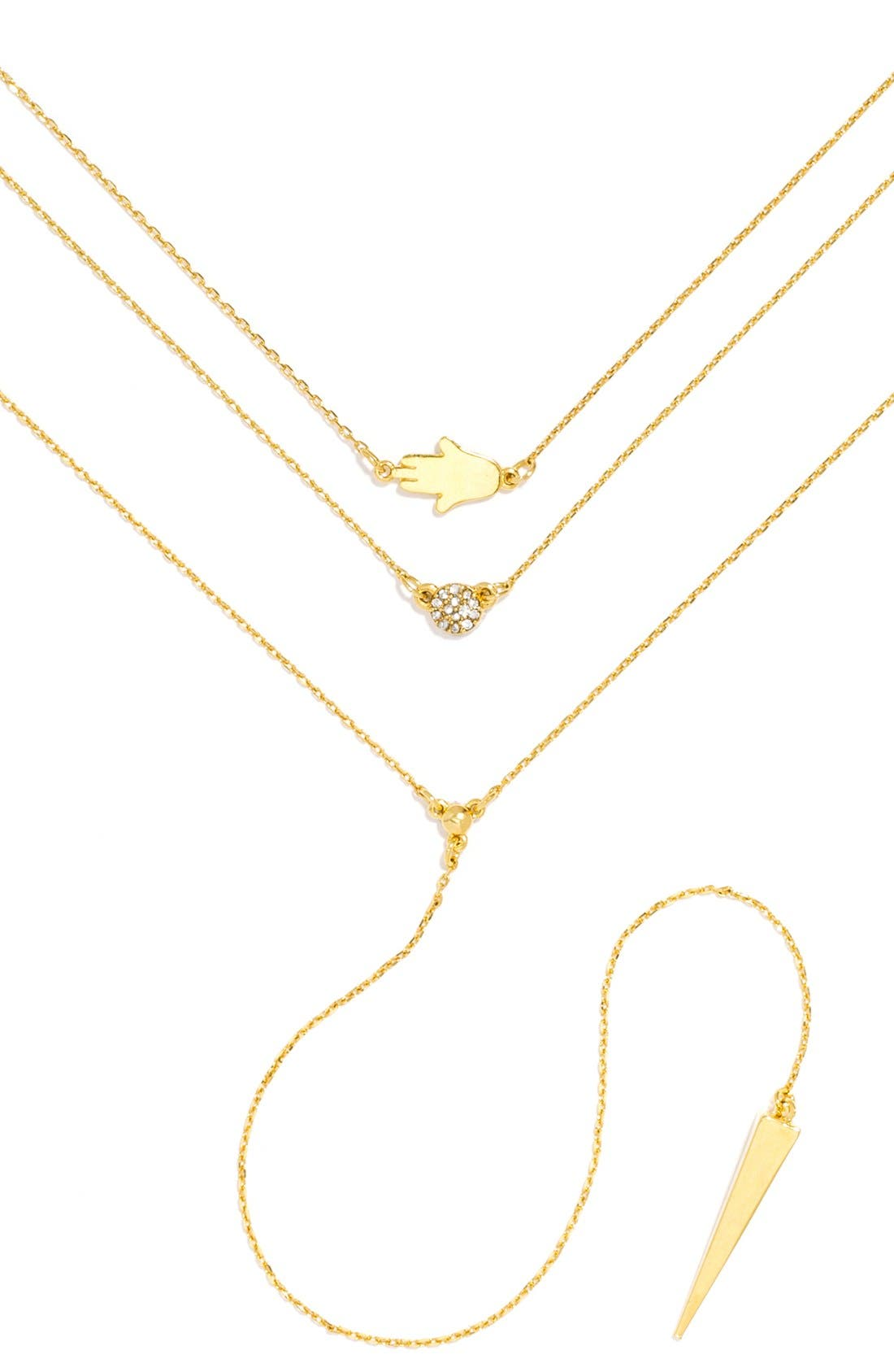 'Pyramid' Layered Necklace Gift Set,                         Main,                         color, Gold