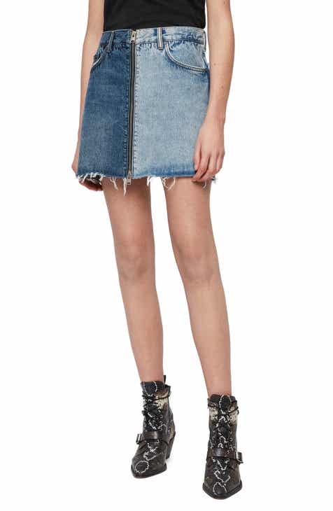 Boyish Jeans The Corey Frayed Denim Miniskirt by BOYISH JEANS