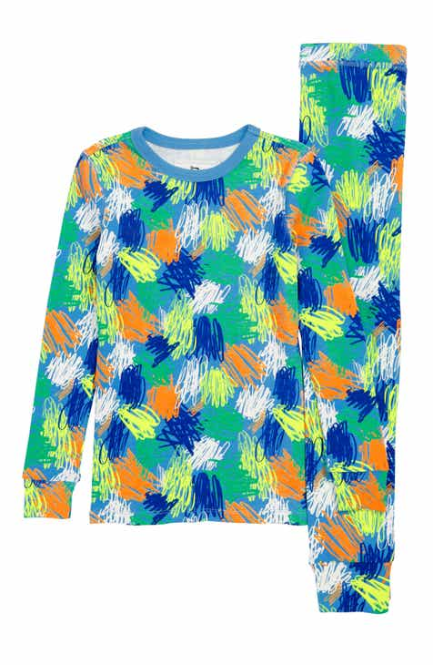 crewcuts by J.Crew Scribble Print Fitted Two-Piece Pajamas (Toddler Boys 6c1109e6d