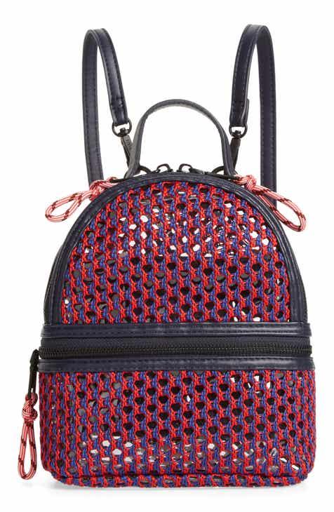 be17e0ea38b Steve Madden Mini Woven Mesh   PVC Backpack