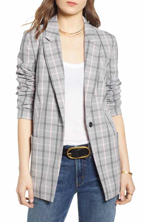 Treasure & Bond Plaid Blazer by TREASURE AND BOND