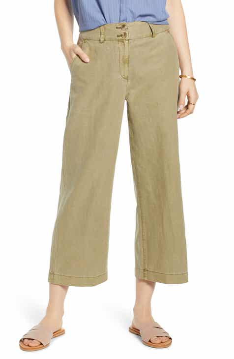 Treasure & Bond Flat Front Pants by TREASURE AND BOND