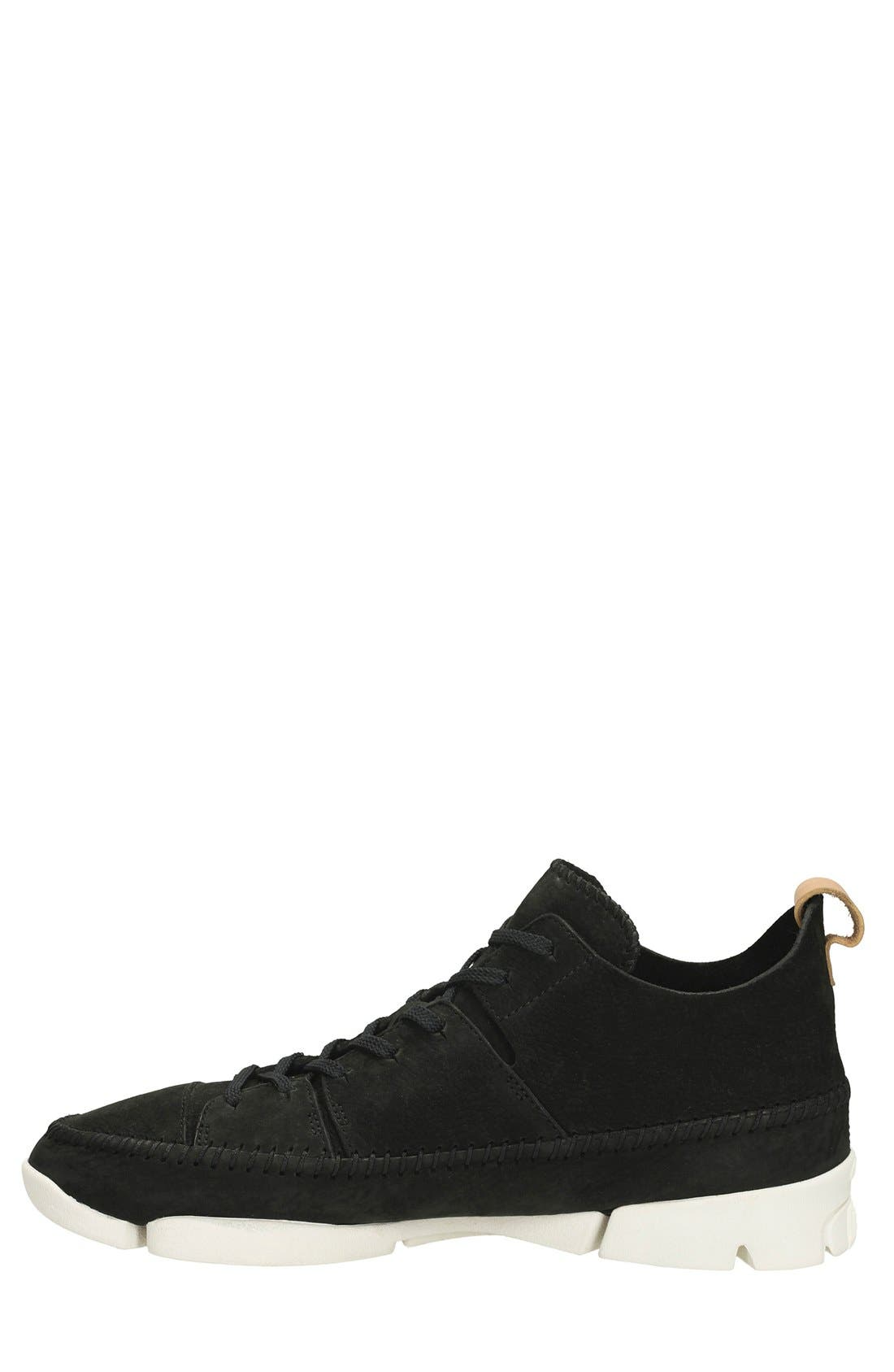 Clarks<sup>®</sup> 'Trigenic Flex' Leather Sneaker,                             Alternate thumbnail 2, color,                             Black