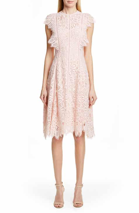 2fe0467ec7 Lela Rose Flutter Sleeve Lace Dress