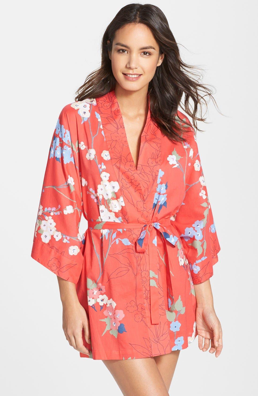 Alternate Image 1 Selected - Natori 'Sakura' Print Wrap Robe